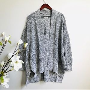 Lou & Grey oversized open front cardigan